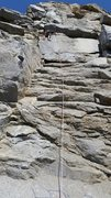 Rock Climbing Photo: Nearing the top of Energy Blues at the Riverside Q...