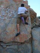 Rock Climbing Photo: cool bouldering route on Tenaja Falls