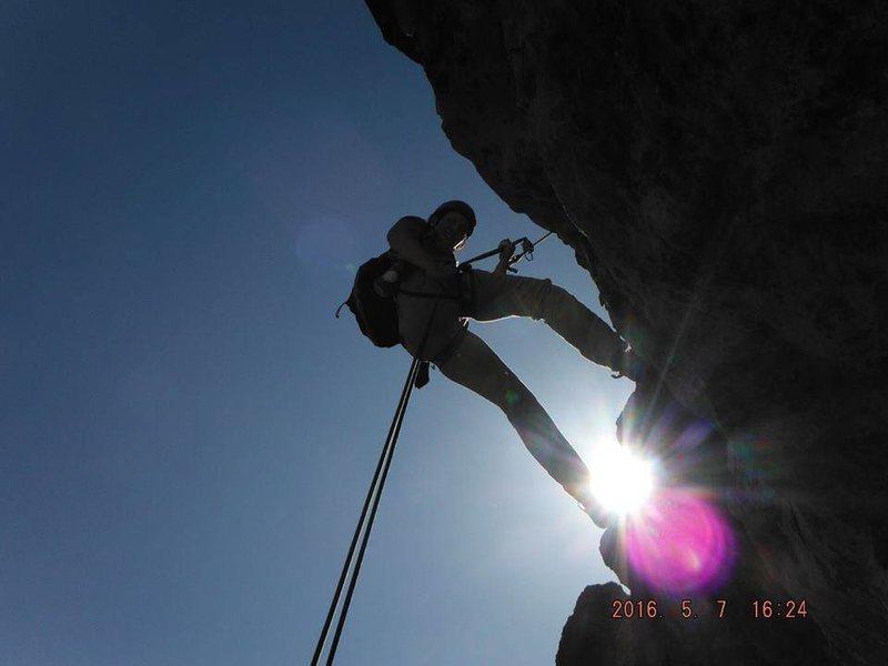 Rock Climbing Photo: Mainline, Trad multi pitch route, Waterton Alberta