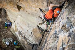 Rock Climbing Photo: Hudson Crack. Ample options for feet.