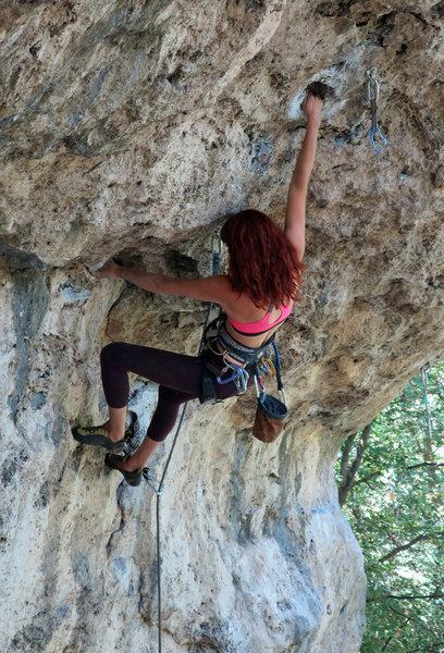 Rock Climbing Photo: Natasha, climbing like a girl.