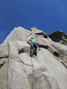 Rock Climbing Photo: the start, if you stay in the left crack it is way...