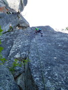 Rock Climbing Photo: the 10c start leads into a great 10a crack, then t...