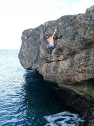Rock Climbing Photo: Iguana drive, the crux of the Boulder...