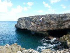 Rock Climbing Photo: Iguana drive V6 sea level Boulder 20 ft. If you fa...