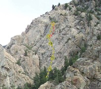 Rock Climbing Photo: Itchy Scratchy - Yellow Road to recovery - Red