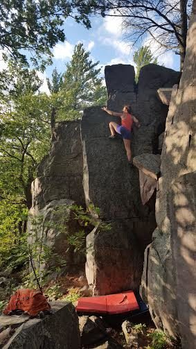 Tanya topping out. Very chill route