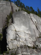 Rock Climbing Photo: the Bullet. The giant groove on the right is Wild ...