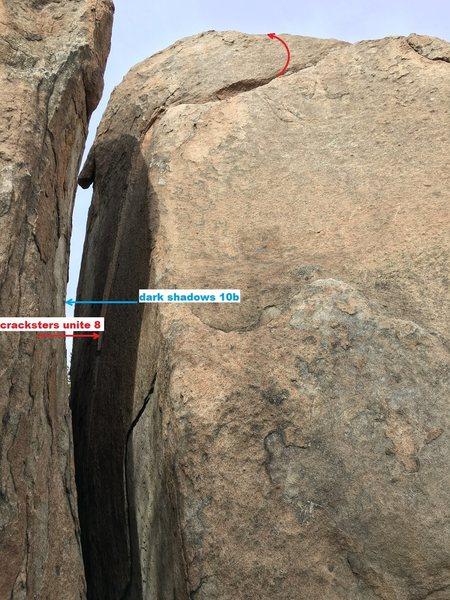 Rock Climbing Photo: corridor cracks