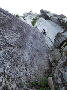 Rock Climbing Photo: Pitch 1. There was no one around so I did some hou...