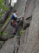 Rock Climbing Photo: Fred Beckey out having fun on some rock.