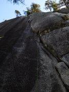 Rock Climbing Photo: Jessica leading the Black Book