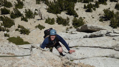 Rock Climbing Photo: Daniel climbs Southeast Buttress of Cathedral Peak...
