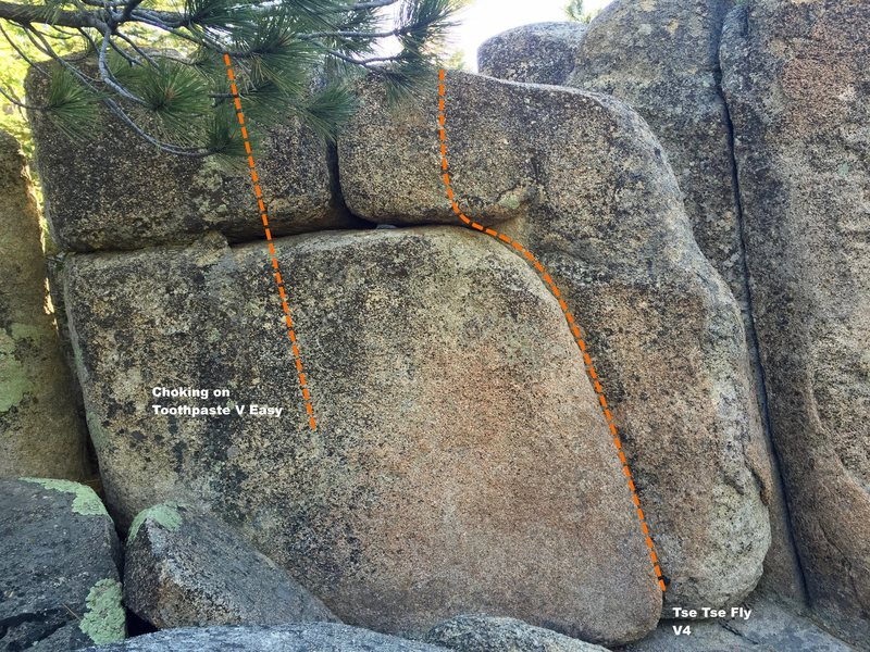 West face left topo