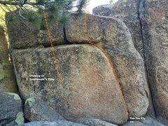 Rock Climbing Photo: West face left topo