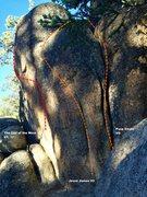 Rock Climbing Photo: East face topo