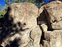 Rock Climbing Photo: East face left topo