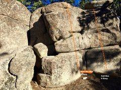 Rock Climbing Photo: East face center topo