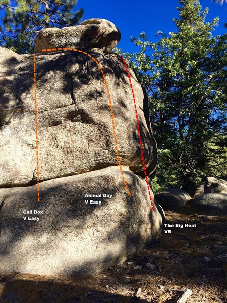 East face right topo