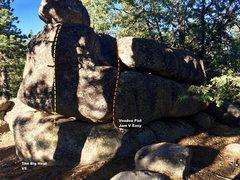 Rock Climbing Photo: East face right topo