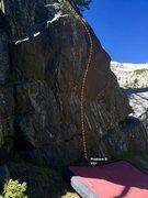 Rock Climbing Photo: Problem D topo