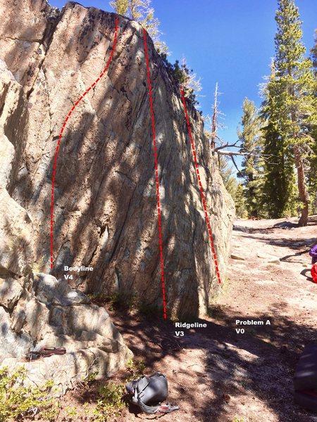 South Ridge boulder topo