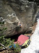 Rock Climbing Photo: mid crux on the SDS to Problem A