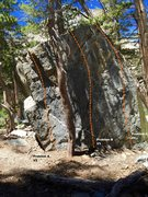 Rock Climbing Photo: East face topo