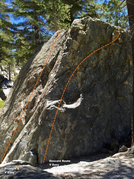 Rock Climbing Photo: North west arete topo