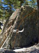 Rock Climbing Photo: North west arete topo