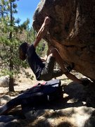 Rock Climbing Photo: Moving into the crux moves Tidal Wave
