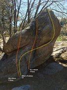 Rock Climbing Photo: Mike's Boulder Topo
