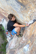 Rock Climbing Photo: Zach in the upper bulge