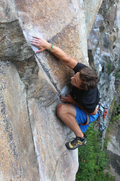 Rock Climbing Photo: Zach makes the big undercling move