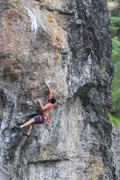 Rock Climbing Photo: Greg, A new angle on the crux