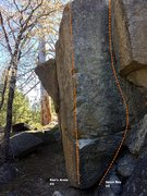 Rock Climbing Photo: North face right topo