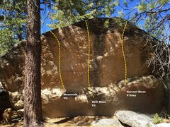 Rock Climbing Photo: South face topo