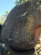 Rock Climbing Photo: West face topo