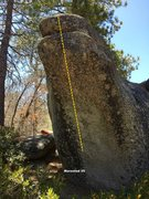 Rock Climbing Photo: North face left topo