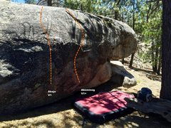 Rock Climbing Photo: West face right topo