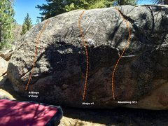 Rock Climbing Photo: West face left topo