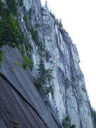 Rock Climbing Photo: look for the tiny climber.