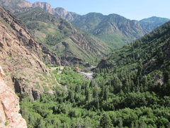 Rock Climbing Photo: Big Cottonwood Canyon from 'Steorts Ridge'