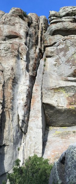 Rock Climbing Photo: I believe the route goes up the left hand side of ...