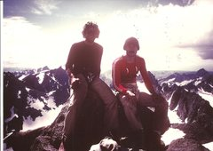 to further the lee van clef comparison... <br /> <br />Me and Pablo, Gannett Peak Wyo, 1984