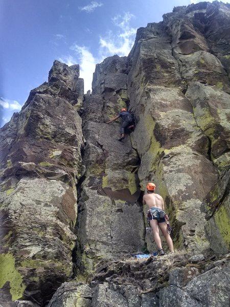 Rock Climbing Photo: Austin toproping Gerbil Lies