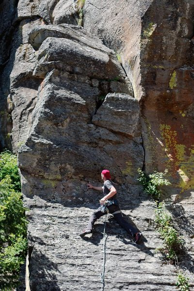 Rock Climbing Photo: Leading Fab Slab