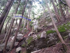 Rock Climbing Photo: Approach to the fixed line just as I started the s...