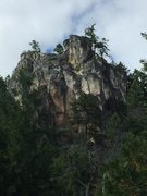 Rock Climbing Photo: One of the rock formations from a distance.