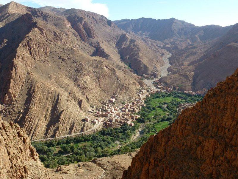Rock Climbing Photo: Tougher valley and Tizgui village